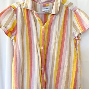 Striped old navy tie up blouse!